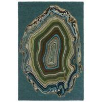 Liora Manne Agate 9-Foot x 12-Foot Area Rug in Aqua