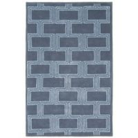 Liora Manne Boxes 5-Foot x 8-Foot Area Rug in Denim