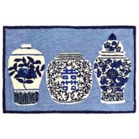 Liora Manne Ginger Jars Indoor/Outdoor 2-Foot 6-Inch x 4-Foot Accent Rug in Blue