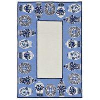 Liora Manne Ginger Jars Indoor/Outdoor 7-Foot 6-Inch x 9-Foot 6-Inch Area Rug in Blue