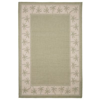 nottingham home palm tree 8foot x 10foot area rug