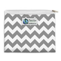 Planet Wise™ Chevron Zipper Sandwich Bag in Grey/White
