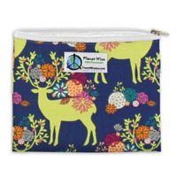 Planet Wise™ Caribou Bloom Zipper Sandwich Bag in Navy/Lime
