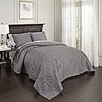 Beautyrest® Valentre King Coverlet Set in Pewter
