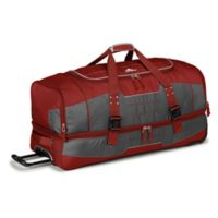 High Sierra Ultimate Access 2.0 36-Inch Rolling Duffle in Red/Grey