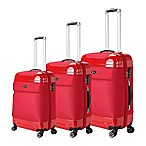 Brio Hybrid 3-Piece Luggage Set in Red