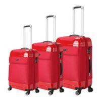 Brio Hybrid 3-Piece Luggage Set in Red