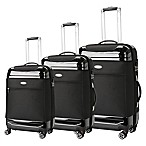Brio Hybrid 3-Piece Luggage Set in Black