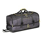 High Sierra Ultimate Access 2.0 36-Inch Rolling Drop Bottom Duffle in Grey/Yellow