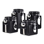 Oggi™ EZ Grip  Handle 4-Piece Kitchen Canister Set in Black