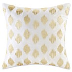 INK+IVY Ayana 18-Inch Square Dot Throw Pillow in Gold