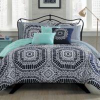 Avondale Manor Petra 10-Piece Reversible King Comforter Set in Navy