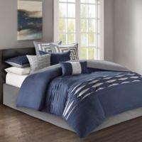N Natori® Nara California King Comforter Set in Navy
