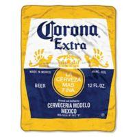 "Corona ""Bottle Label"" Micro Raschel Throw Blanket"