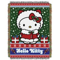 "Hello Kitty ""Snowy Kitty"" Woven Tapestry Throw Blanket"