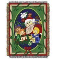 Holiday Blitzen Woven Tapestry Throw Blanket