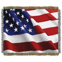 Waving Flag Woven Tapestry Throw Blanket