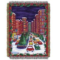 Holiday City Woven Tapestry Throw Blanket