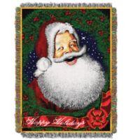 Howdy Santa Woven Tapestry Throw Blanket