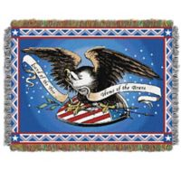 Memorial Day Holiday Woven Tapestry Throw Blanket