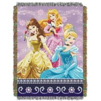 "Disney Princesses ""Sparkle Dream"" Woven Tapestry Throw Blanket"