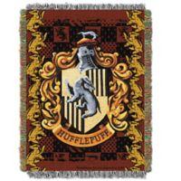 Harry Potter™ HufflePuff Crest Tapestry Throw Blanket