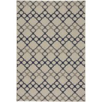 Capel Rugs Elsinore-Santorini 3-Foot 11-Inch x 5-Foot 6-Inch Area Rug in Midnight Blue