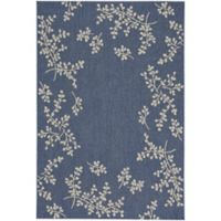 Capel Rugs Biltmore Elsinore Winterberry 3-Foot 11-Inch x 5-Foot 6-Inch Area Rug in Blue