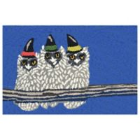 Liora Manne Owl-O-Ween 2-Foot 6-Inch x 4-Foot Indoor/Outdoor Accent Rug in Cobalt Blue
