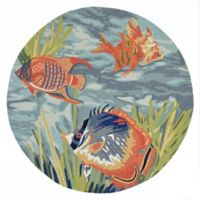Liora Manne Tropical Fish Ocean 8-Foot Indoor/Outdoor Round Area Rug