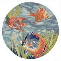 Liora Manne Tropical Fish Ocean 8-Foot Indoor/Outdoor Round Area Rug