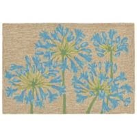 Liora Manne Desert Lily Indoor/Outdoor 2-Foot x 3-Foot Accent Rug in Bluebell