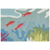 Liora Manne Ocean View 2-Foot x 3-Foot Indoor/Outdoor Accent Rug in Blue