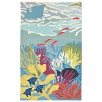 Liora Manne Ocean View 3-Foot 6-Inch x 5-Foot 6-Inch Indoor/Outdoor Area Rug in Blue