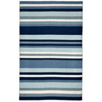 Liora Manne Tribeca Water 7-Foot 6-Inch x 9-Foot 6-Inch Area Rug in Blue