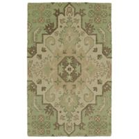 Kaleen Weathered 2-Foot x 3-Foot Indoor/Outdoor Accent Rug in Green