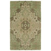 Kaleen Weathered 8-Foot x 10-Foot Indoor/Outdoor Area Rug in Green