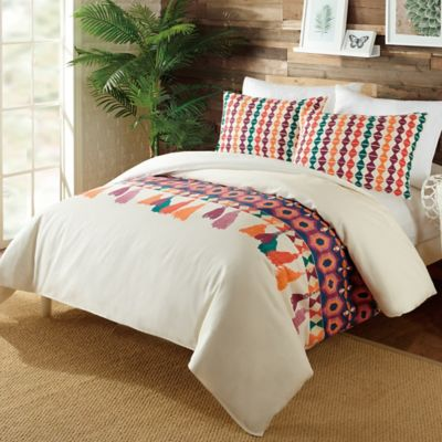 Justina Blakeney By Makers Collective Akeba Queen Duvet Cover Set In Cream