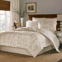 Stone Cottage Belvedere King Duvet Cover Set in Cream/Gold