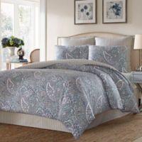 Stone Cottage Lancaster Reversible Queen Comforter Set in Blue