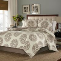 Stone Cottage Medallion King Comforter Set in Brown