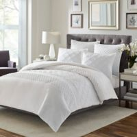 Stone Cottage Mosaic King Duvet Cover Set in White