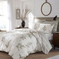 Stone Cottage Willow Reversible Full/Queen Duvet Cover Set in Brown