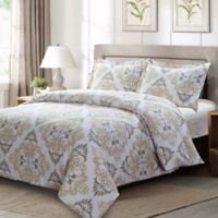Suri Queen Duvet Cover Set in Grey/Taupe