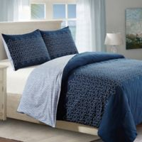 Meadow Queen Duvet Cover Set in Blue