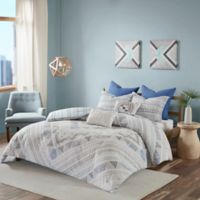 Urban Habitat Rochelle Reversible Full/Queen Duvet Cover Set in Blue