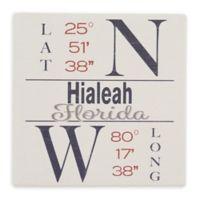 Thirstystone® Dolomite Hialeah, FL Coordinates Square Single Coaster
