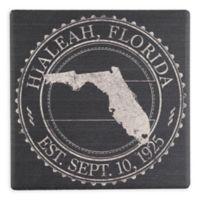 "Thirstystone® ""Hialeah, Florida"" Stamp Single Square Coaster"