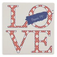 Thirstystone® Dolomite Bayamon, PR Love Square Single Coaster