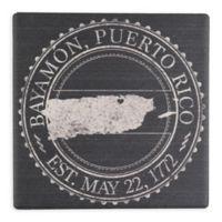 """Thirstystone® """"Bayamon, Puerto Rico"""" Stamp Single Square Coaster"""